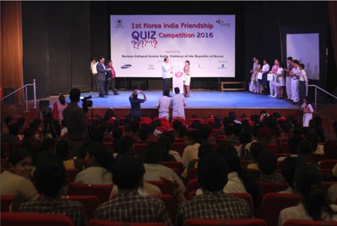 Quiz Competition in New Delhi Tests Knowledge of Korea