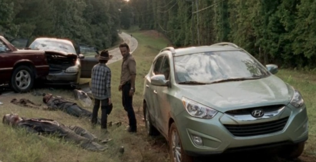 Hyundai Tucson in The Walking Dead. (image: The Walking Dead)