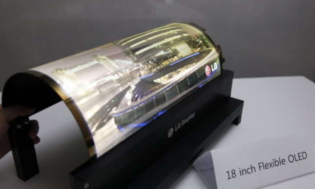 OLEDs emit their own light, eliminating the need for backlighting and allowing handset manufacturers to produce thinner and lighter mobile phones. (image: LG Display)