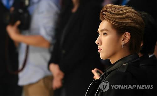 Kris of South Korean boy band EXO (Image courtesy of Yonhap)