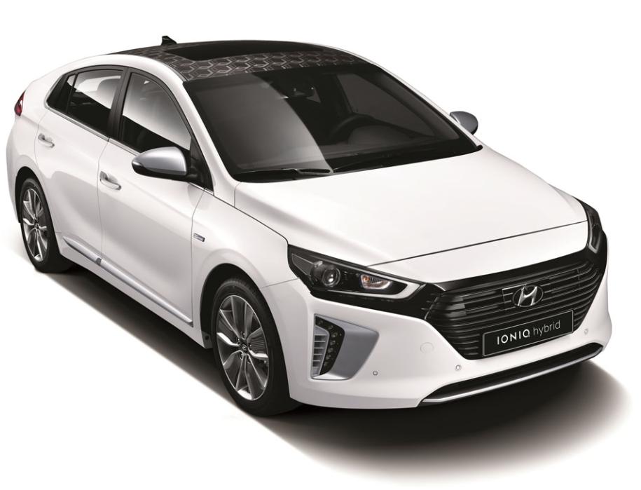 A photo of Hyundai's IONIQ hybrid car (Image courtesy of Hyundai Motor)