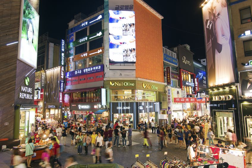 Myeongdong is one of Seoul's main shopping districts for tourists featuring mid-to-high priced retail stores and international brand outlets. (image: KobizMedia/ Korea Bizwire)