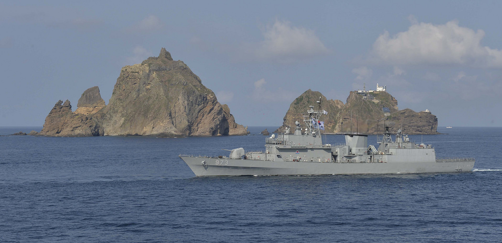 Dokdo -- which lies closer to South Korea in the East Sea that divides the Korean Peninsula and Japan -- has long been a thorn in relations between the two countries. (image: Flickr/ Republic of Korea Armed Forces)