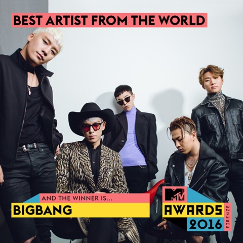 BigBang Honored in Italian MTV Award