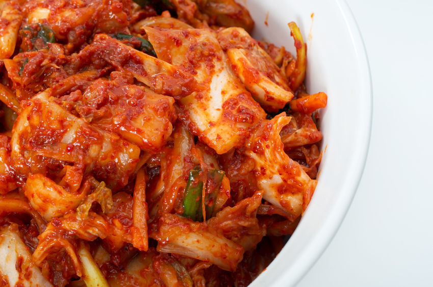 Kimchi is a traditional Korean side dish of fermented cabbage with a variety of spicy seasonings. (image: KobizMedia/ Korea Bizwire)