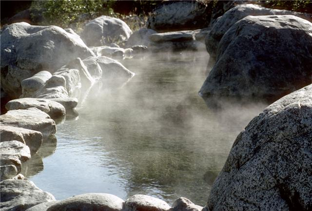 """A hot spring is a must-visit place for patients with painful joint diseases, skin diseases, and paralytic diseases,"" said An. (image: Wikipedia)"