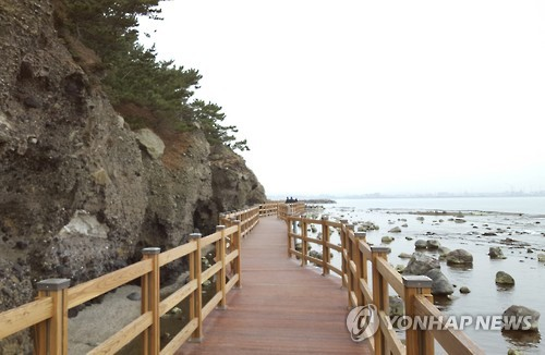 Trekking course in Pohang, a city in North Gyeongsang Province.