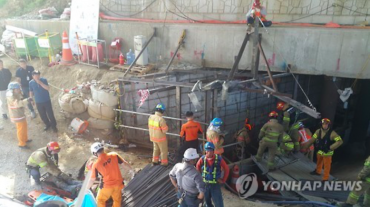 Underground Construction Site in Korea Collapses Causing Multiple Casualties