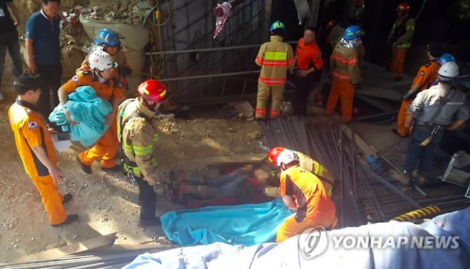 The number of injuries has been confirmed as eight and others were transferred to a nearby hospital. (Image Credit: Yonhap)