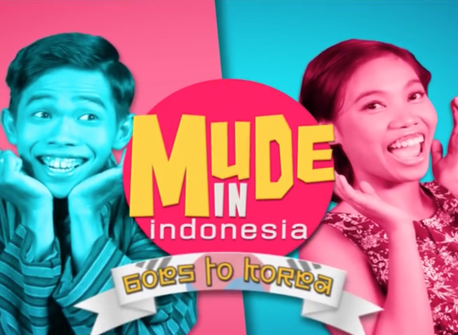 The program features comedians Dede Sunandar and Mumuk Gomez, who travel across Indonesia. However, it recently aired special episodes themed 'Mude Goes to Korea'. (image: RCTI)