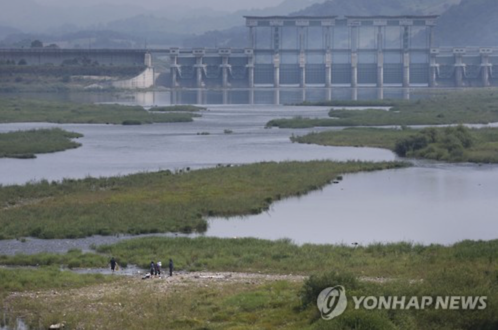 Sources reported that the water level at the North's Hwanggang Dam bordering South Korea has risen to near full capacity since May. (image: Yonhap)