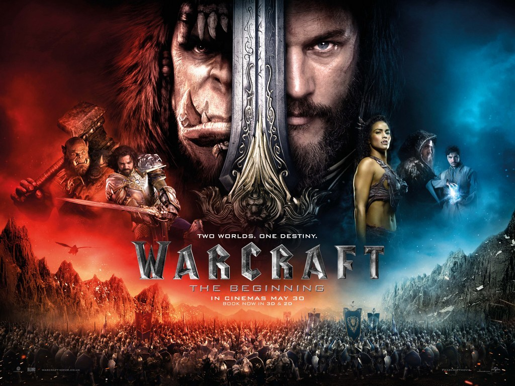 Warcraft portrays a predestined warfare between Orcs and humans based on Blizzard Entertainment's 1994 real-time strategy game of the same title with over 100 million users worldwide.