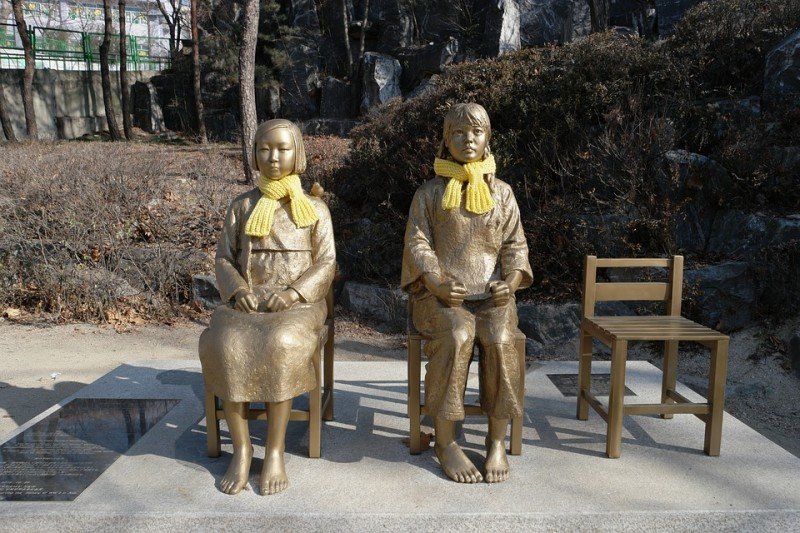 Woman Arrested for Striking Comfort Woman Statue