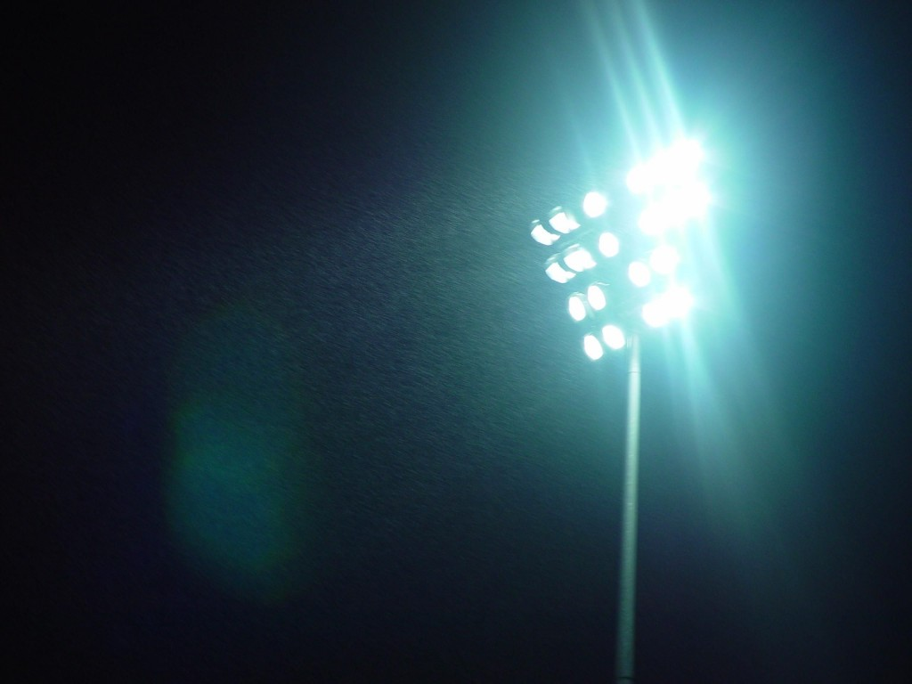 Apartment residents living across from Gwangju Baseball Stadium suffer whenever there's a baseball match, due to blinding stadium lights intended to illuminate first base. (image: Public Domain Images)