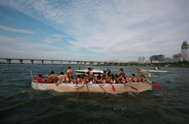 Intrepid Explorers Compete to Cross Han River in Paper Boats