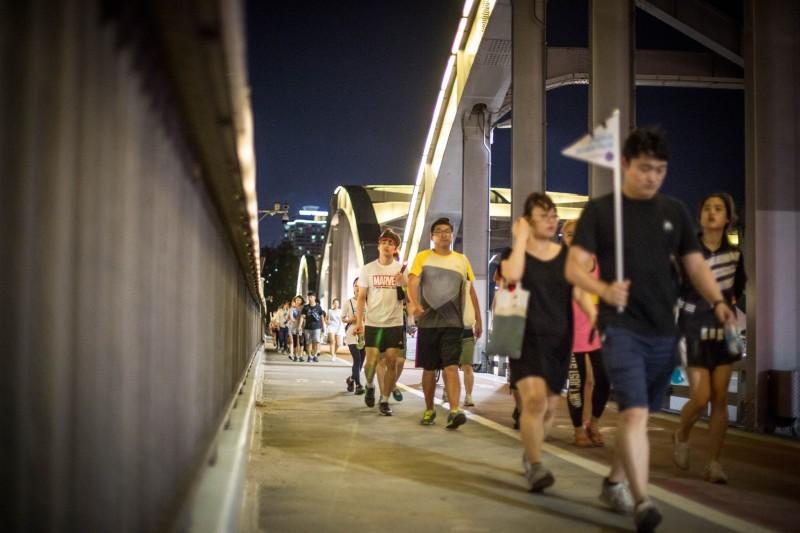 Seoul Hosts Overnight Walkathon