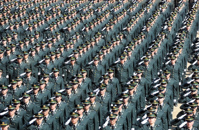The Korean military academies for the army, navy and air force, which have yet to disclose their competition rates, are likely to see similar increases for the 2017 academic year. (image: Flickr/ Republic of Korea Armed Forces)