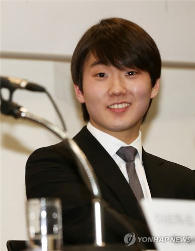 Pianist Cho Seong-jin listens to a question during a news conference in Seoul. (image: Yonhap)