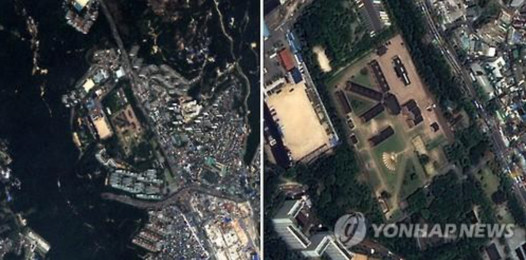 These file photos, provided by South Korea's science ministry on Aug. 3, 2015, show sample imagery from the Korea Multipurpose Satellite-3A (KOMSAT-3A). (image: Yonhap)