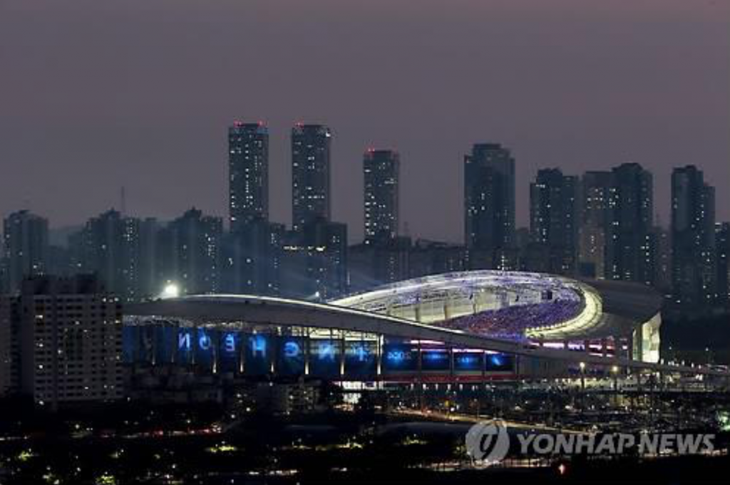 The opening ceremony of the 17th Asian Games is staged at Incheon Asiad Main Stadium in Incheon. (image: Yonhap)