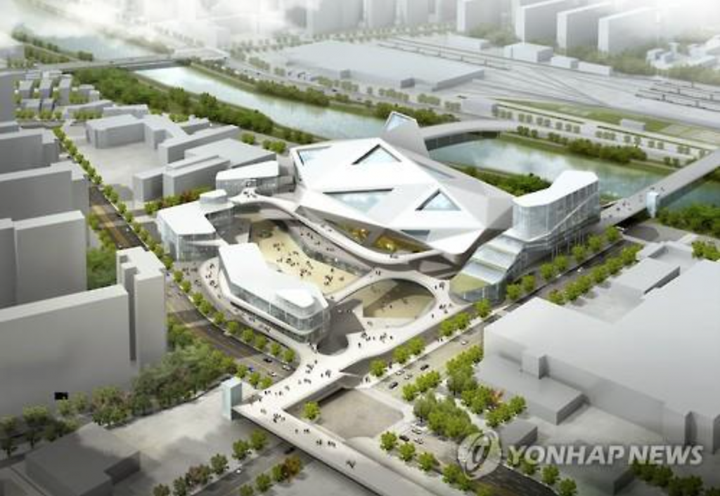 Seen here is an artist's rendering of Seoul Arena which is scheduled to be completed in northern Seoul in 2021. Seoul city plans to develop the area into a mecca for the country's music industry. (image: Yonhap)