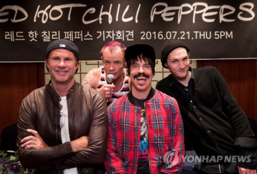Red Hot Chilli Peppers to Headline 2016 Jisan Valley Rock Music & Arts Festival