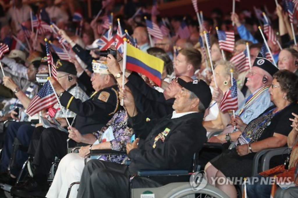Korean War veterans celebrate the 63rd anniversary of the armistice of the Korean War.