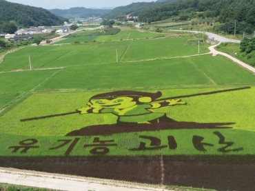Korean Farms Present Rice Paddy Artwork