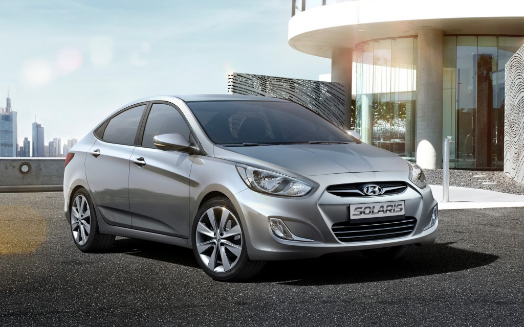 The Solaris, marketed as the Accent elsewhere, was the second-best selling car in Russia last year, following the Russian subcompact car.  (image: Hyundai Motor Company)