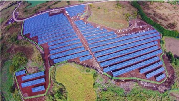 Aerial view of solar power plant facilities. (image: Yonhap)