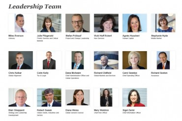 PwC's Network Chairman Announces New Leadership Team