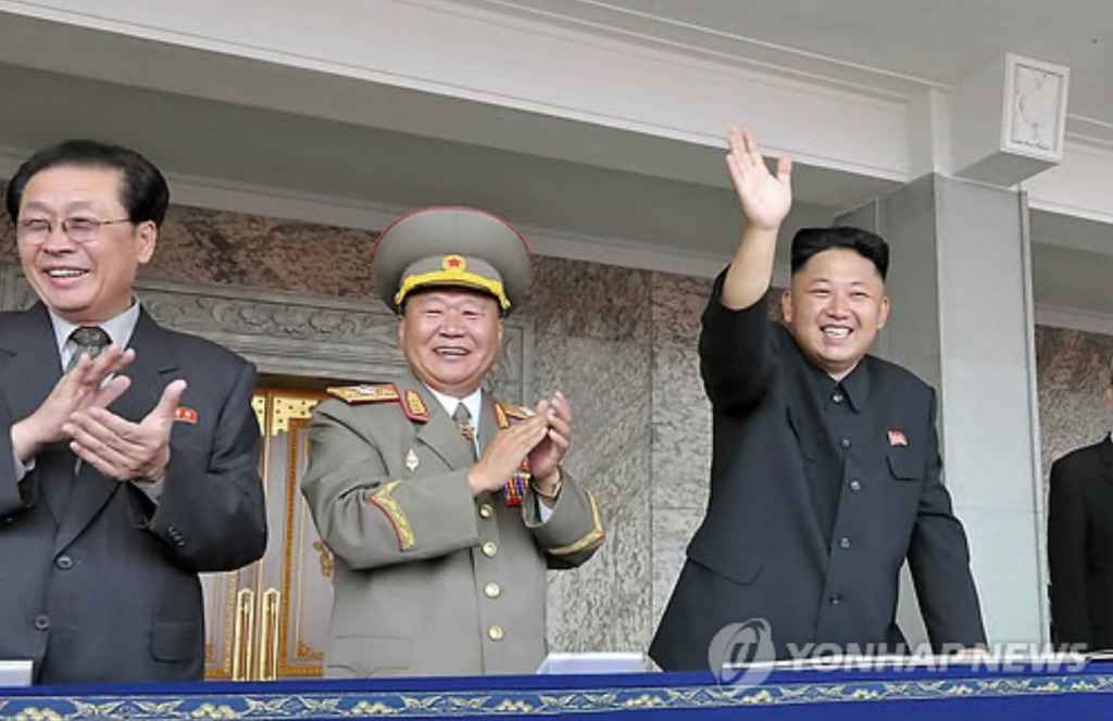 In 2013, Kim (R) ordered the execution of his once-powerful uncle Jang (L), accusing him of treason, a move aimed at reaffirming his power that he inherited in late 2011 after the sudden death of his father Kim Jong-il. (image: Yonhap)