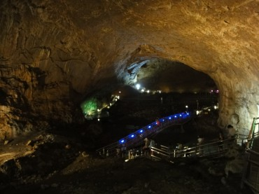 Korea's Largest Limestone Cave a Popular Summer Attraction