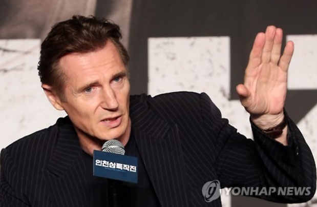 """I was very glad to hear that the movie did well at the weekend box office. I want to congratulate all the staff and director John H. Lee for having their hard work pay off,"" said Neeson in an email.  (image: Yonhap)"
