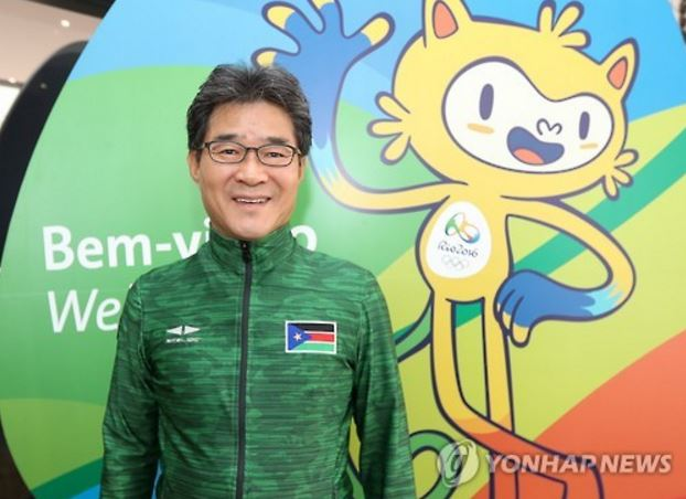 Lim Heung-sae, former soccer coach of South Korea, played a crucial role in bringing South Sudan to Rio Olympics. (image: Yonhap)