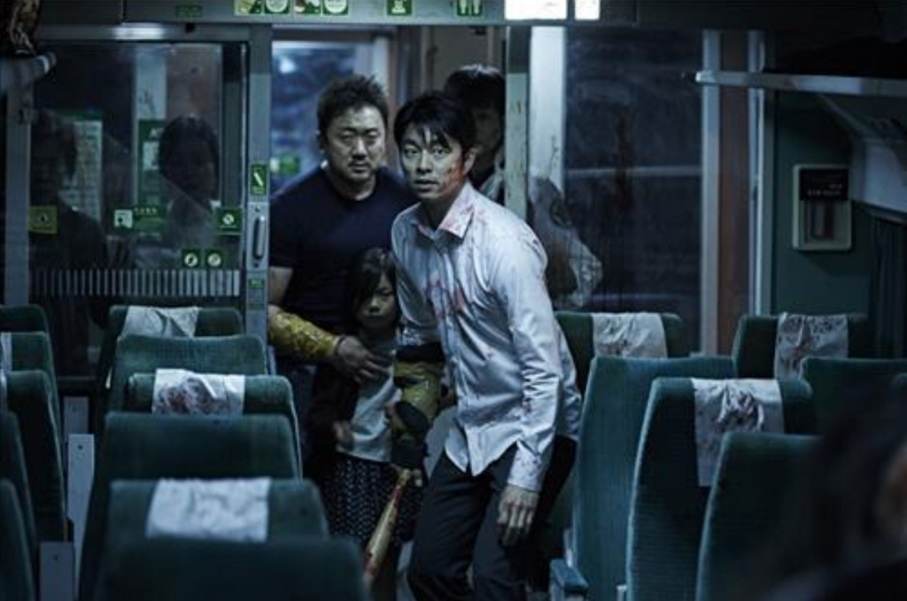The zombie thriller depicts a group of passengers battling against an attack by people infected with a mysterious virus on a Busan-bound bullet train, which is no longer safe from the nationwide viral outbreak. It stars Gong Yoo, Kim Soo-an, Jung Yu-mi and Ma Dong-seok. (image: Yonhap)