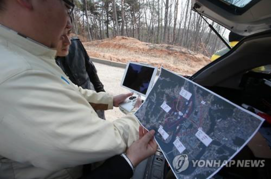 """By dispatching drones to mountainous areas where manned search is more difficult, we'll be able to shorten the time frame of our operations and decrease the risks of missing people facing unfortunate deaths,"" said an agency official. (image: Yonhap)"