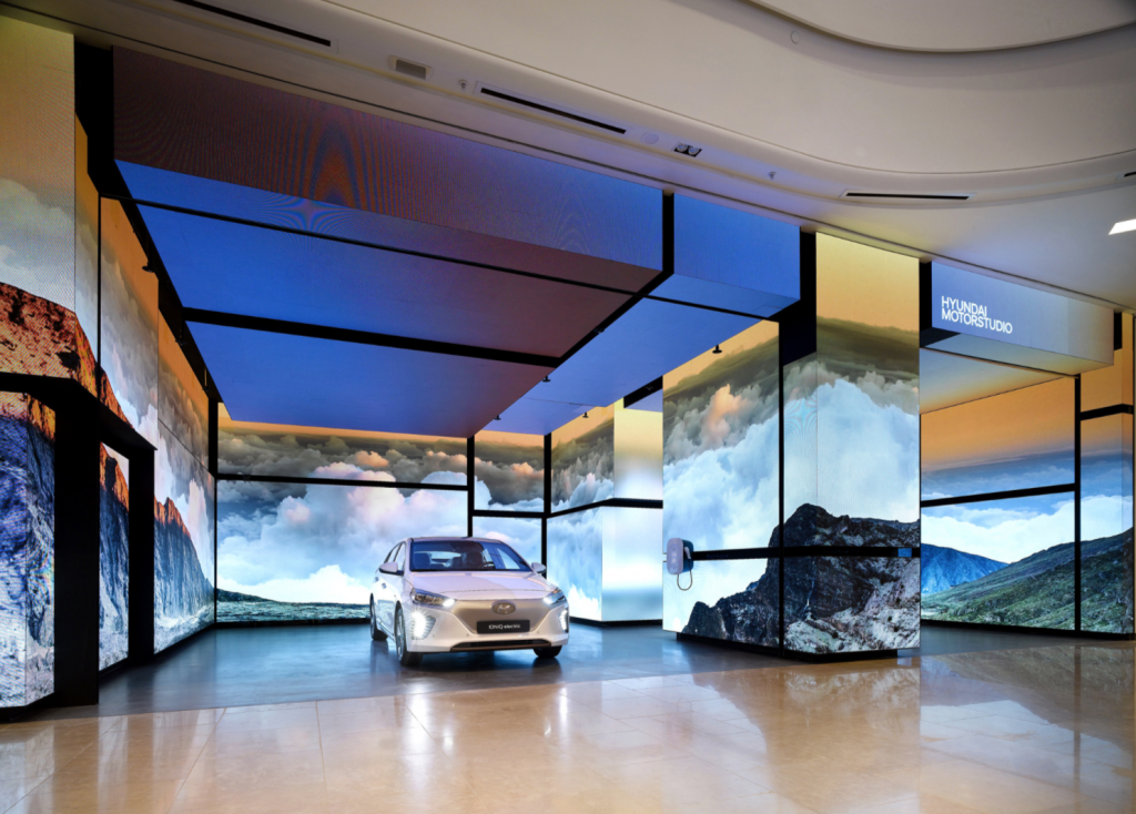 Hyundai opened a Hyundai Motorstudio in the complex, the third of its kind following facilities in Seoul and Moscow. (image: Hyundai Motor Company)