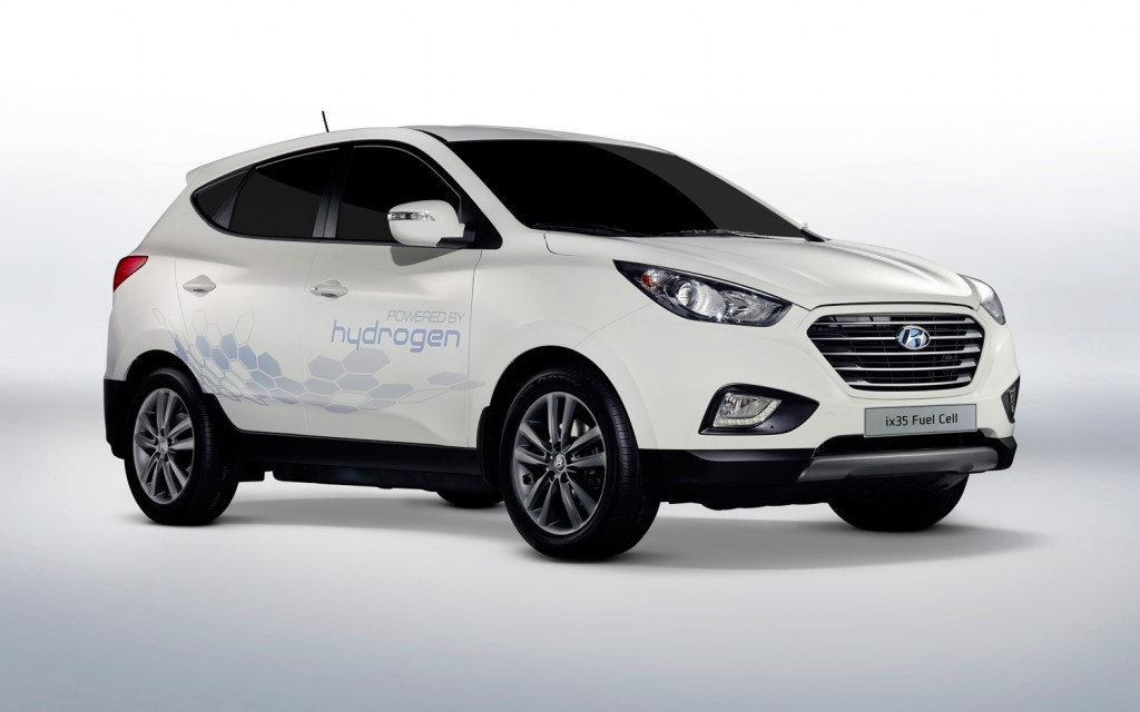 Hyundai currently produces the only FCEV in South Korea, and its Tucson became the first mass produced fuel cell car in the world in 2013. (image: Hyundai)