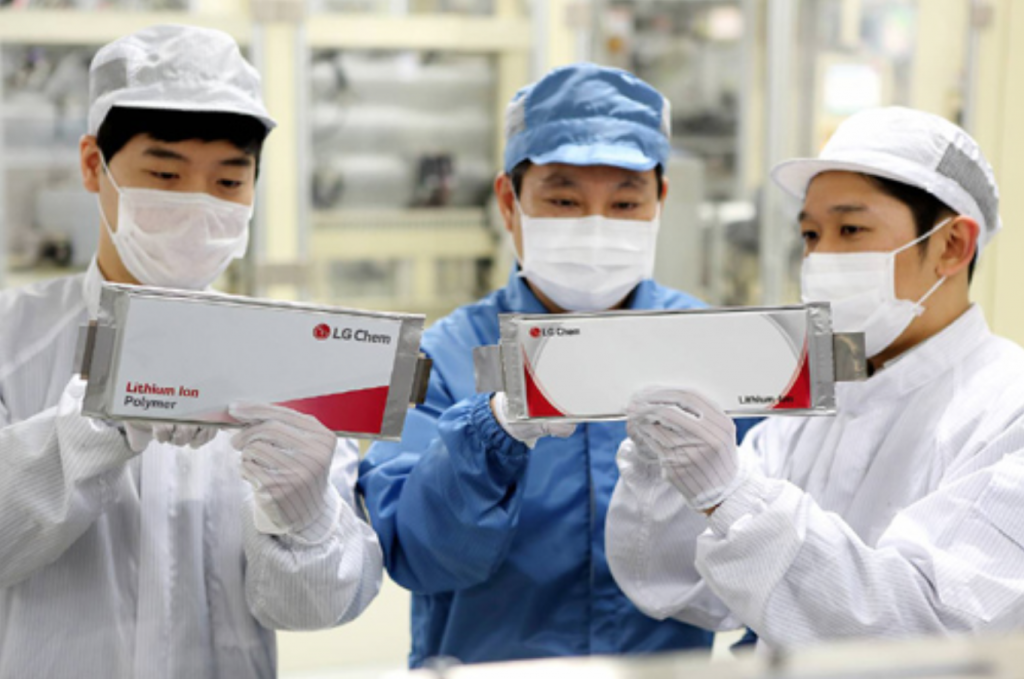 The company's accumulated orders for electric car batteries surpassed 36 trillion won this year, LG Chem said. (image: LG Chem)