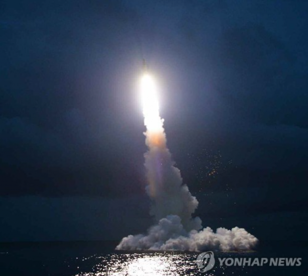 In an earlier provocation, Pyongyang test-fired a submarine-launched ballistic missile in waters off its east coast toward Japan on Aug. 24 in an apparent protest against the Ulchi Freedom Guardian military drill between Seoul and Washington. (image: Yonhap)