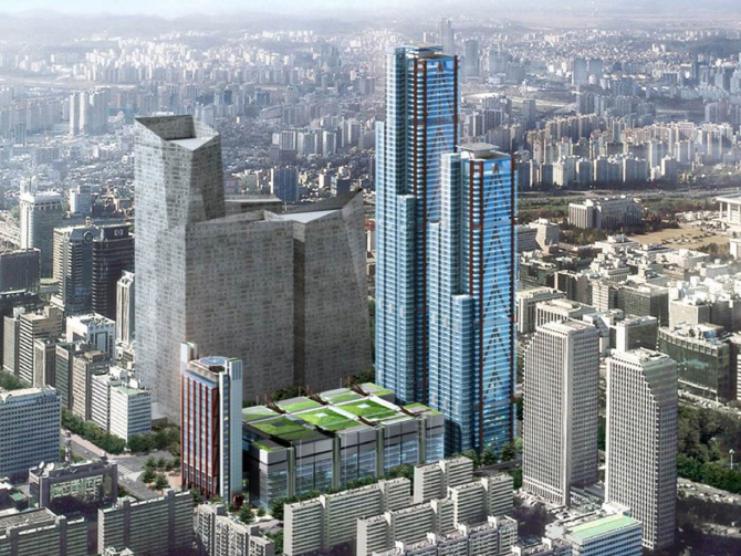 A rendering of Parc 1, a new skyscraper to be built in the financial district of Yeouido, Seoul. (image: Yonhap)