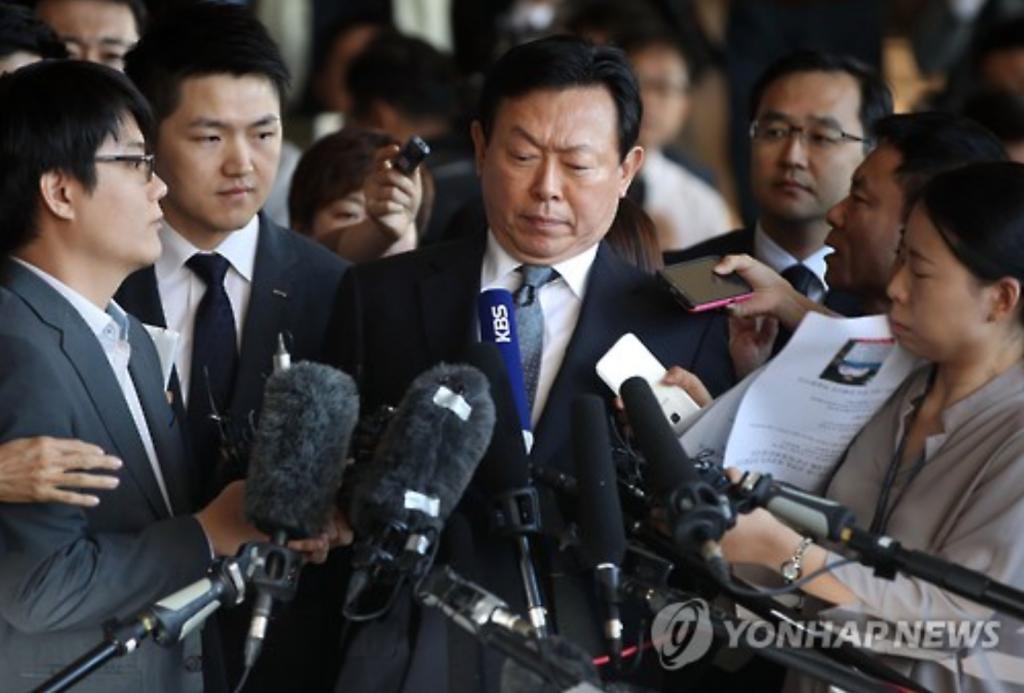 Lotte Group Chairman Shin Dong-bin. (image: Yonhap)