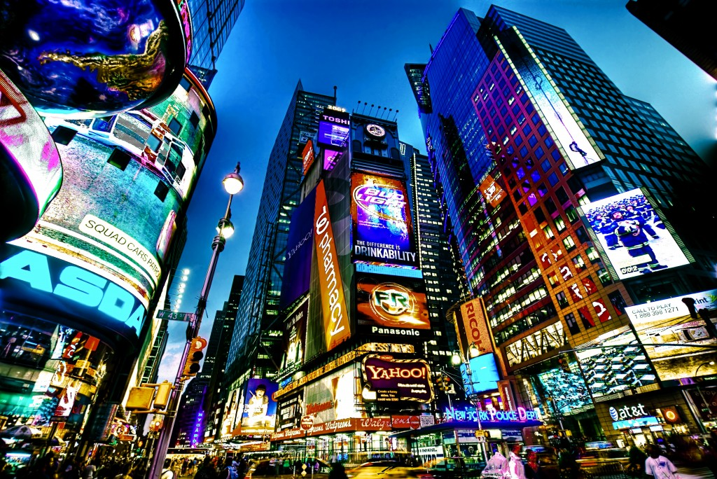 "The billboard display zone will allow for various outdoor advertisements with little restrictions, similar to London's Piccadilly, and New York City's Times Square, hence the tentative nickname ""Korean Times Square"". (image: Wikimedia)"