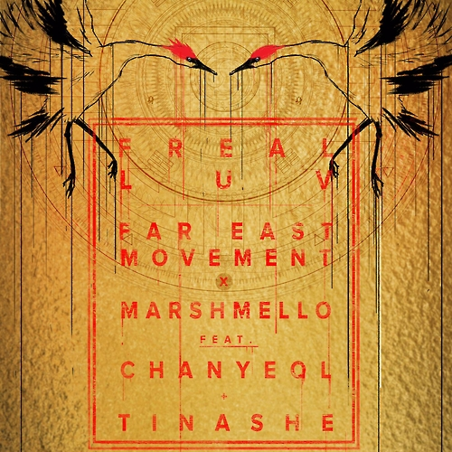 """Cover for """"Freal Luv,"""" provided by HNS HQ, the PR agency for Far East Movement's albums. (image: Yonhap)"""