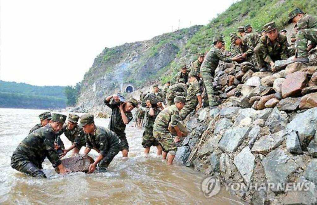 Typhoon Lionrock struck the North Korean region at the end of August, causing massive floods and resulting in an estimated 130 deaths and leaving 400 missing. (image: Yonhap)