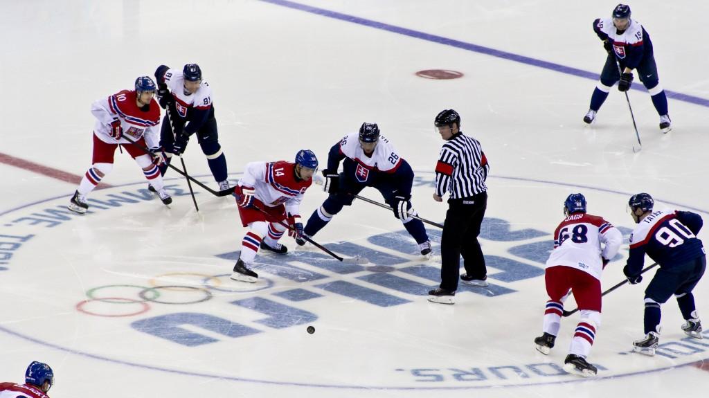 Ice hockey at the 2014 Winter Olympics – Men's tournament Czech Republic vs Slovakia. (image: Wikimedia)