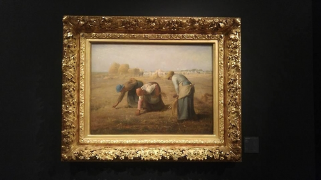 "Jean-Francois Millet's masterpiece ""Des Glaneuses"" is on display at the Hangaram Art Museum. (image: Yonhap)"
