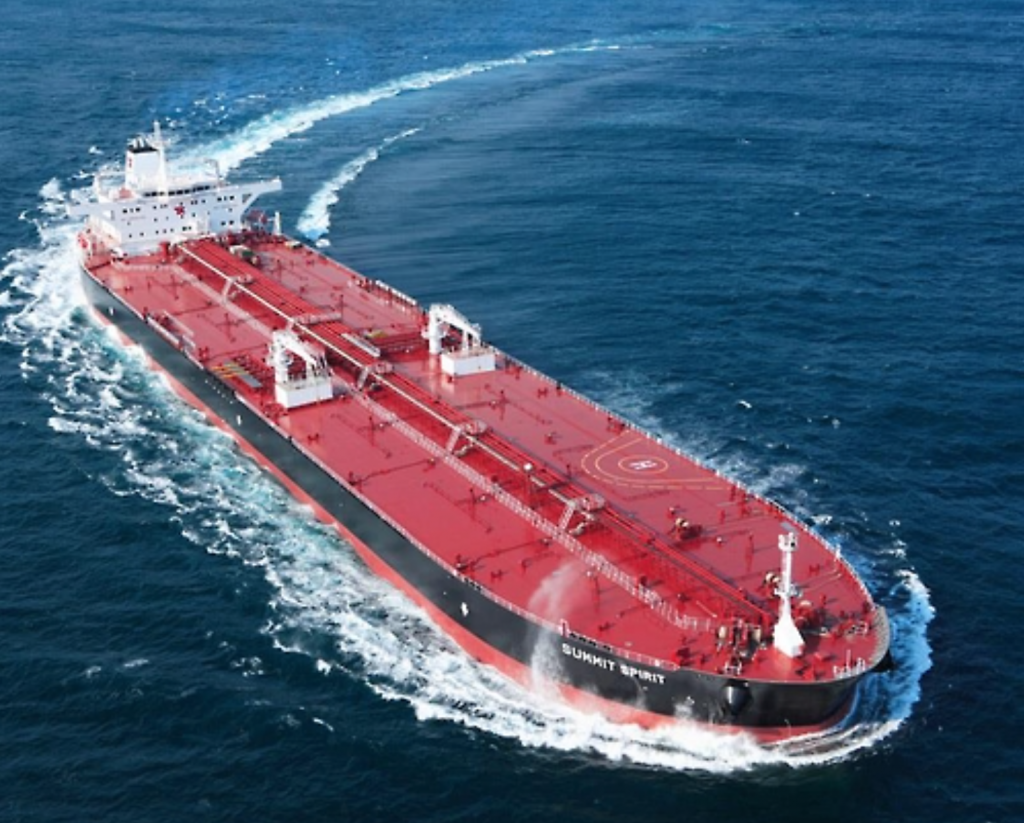 A Suezmax oil tanker in a photo provided by Samsung Heavy Industries Co. (image: Yonhap)