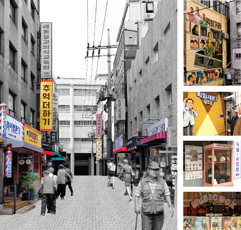 Also installed on the street were signposts with bigger fonts and signs for seniors with poor eyesight or cognitive ability, cradles for walking sticks newly installed at various venues, and an automated external defibrillator in case of health emergencies. (image: Seoul Metropolitan Government)